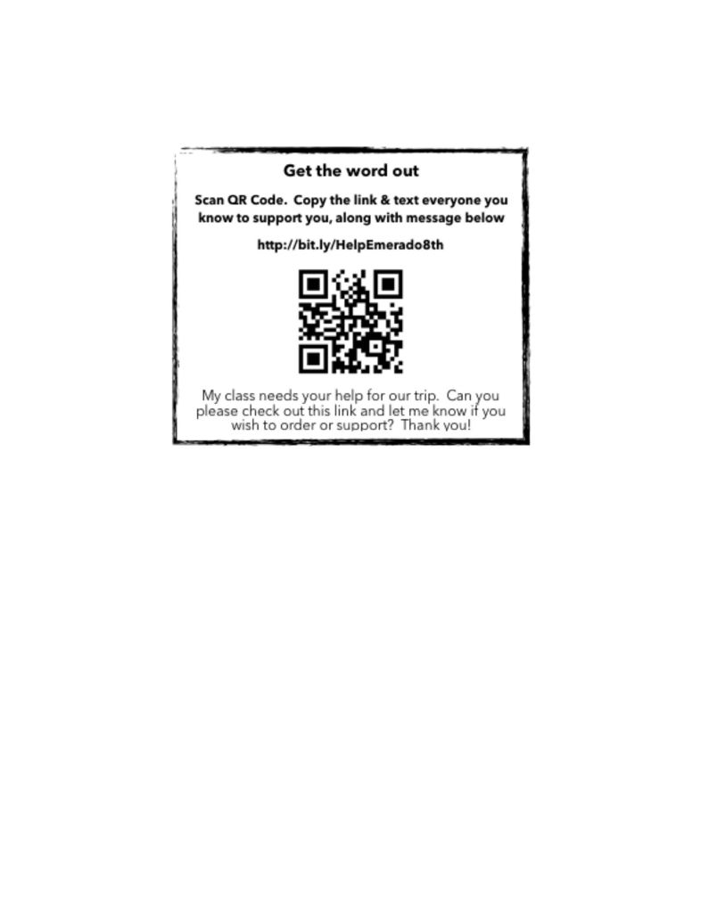 QR code for 8th grade website